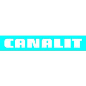 CANALIT CS25 BU W - CANALIT Systeem25 buitenbocht met bodemstuk 25x13m