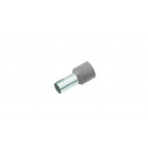Geïsoleerde Adereindhuls, DIN 46228, 2,5mm², lengte 12mm, grijs