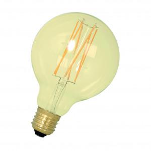 LED Filament G95 E27 240V 4W 2100K 320Lm Gold DIM