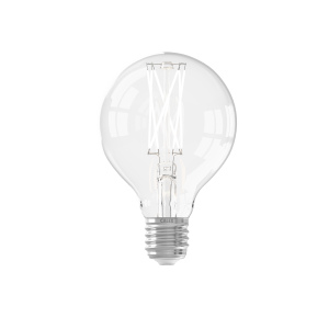 Calex LED Full Glass LongFilament Globe Lamp 220-240V 4W 350lm E27 G80, Clear 2300K Dimmable, energy label A+