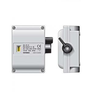 SA425 werkschakelaar 4p 25A/415V M25 grijs IP54