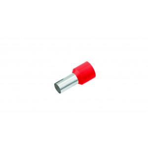 Geïsoleerde Adereindhuls, DIN 46228, 1mm², lengte 12mm, rood