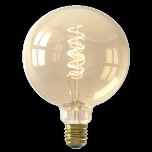 Calex LED Full Glass Flex Filament Globe Lamp 220