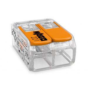 WAGO VERBINDINGSKLEM COMPACT 2x4mm² TRANSPARANT