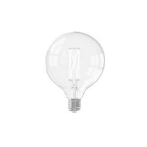 Calex LED Full Glass LongFilament Globe Lamp 220-240V 4W 350lm E27 G125, Clear 2300K Dimmable, energy label A+