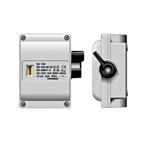 SA416 werkschakelaar 4p 16A/500V M20 grijs IP54