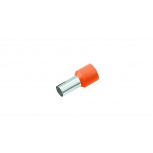 GeÏsoleerde Adereindhuls, DIN 46228, 4mm², lengte 12mm, oranje