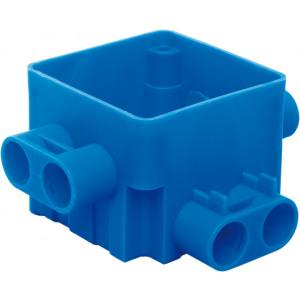 Centraaldoos 55 mm 4x16 mm laag + 4x16 mm hoog